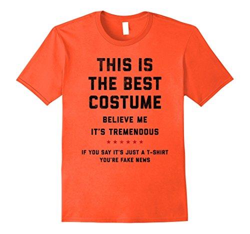[Mens Donald Trump Halloween Costume Shirt Medium Orange] (Best Fashion Halloween Costumes)