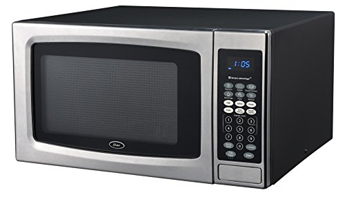 Oster OGZE1304S 1100W Sensor Microwave Oven, 1.3 cu. ft, Stainless - Oster Microwave Stainless Steel