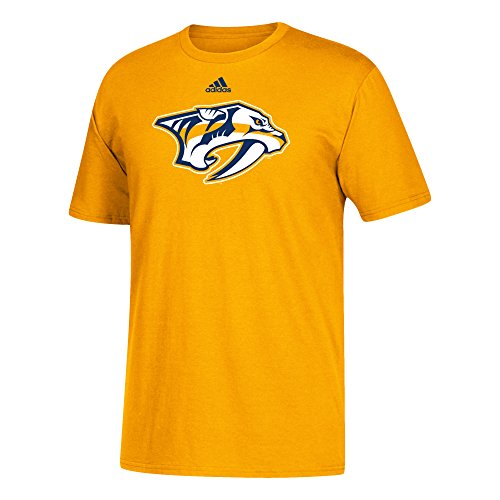 NHL Nashville Predators Adult Unisex Primary Logo Stand Out S/Tee, Small, Gold