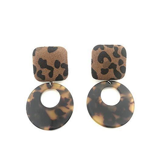 Endicot Women Boho Geometric Dangle Drop Hook Acrylic Resin Ear Stud Earrings Jewelry   Model ERRNGS - 16813 -