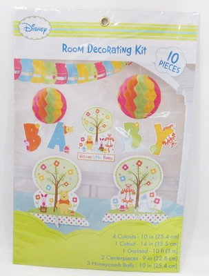 Winnie the Pooh 'Little Hunny' Baby Shower Room Decorating Kit (Winnie The Pooh Baby Shower Decorations)
