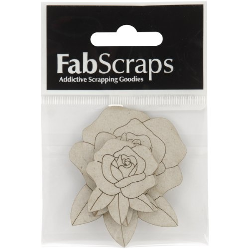 Collection Painted Brads (Fabscraps Die-Cut Chipboard Embellishment, Roses, 2.7 by)