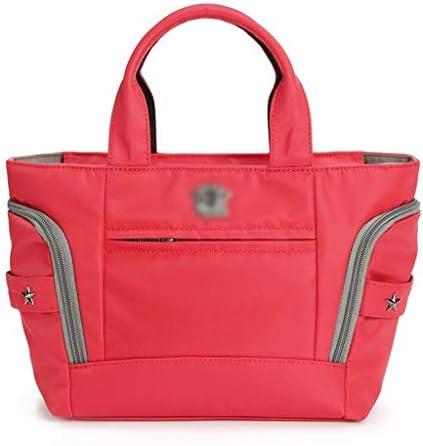 女性のアウトドアトラベルダッフルバッグ多機能ゴルフ衣料品収納袋簡単には4色の仕上げに多機能バッグ付大容量ハンドバッグ HMMSP (Color : Red)
