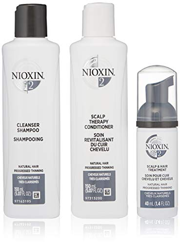 Nioxin Hair System Care Trial Kit, System 2 (Fine Hair/ Progressed Thinning), 3 ct.