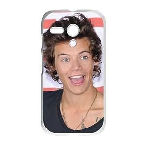 Motorola G Cell Phone Case White Harry Styles yxp