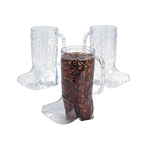Cowboy Boot Mugs (1 dz - 17 oz) Rodeo Party Supplies