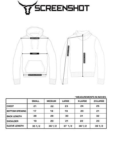 SCREENSHOT Mens Urban Hip Hop Premium Fleece Hoodie - Modern Pullover NYC Street Fashion Urbanwear Hooded Sweatshirt