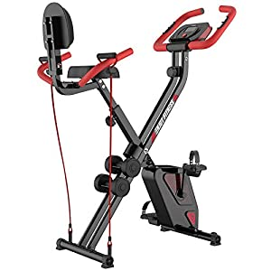 Well-Being-Matters 417TRCsKJTL._SS300_ pooboo Folding Exercise Bike Indoor Cycling Bike Magnetic Upright Bike Stationary Bike with Dumbbells,Arm Resistance…