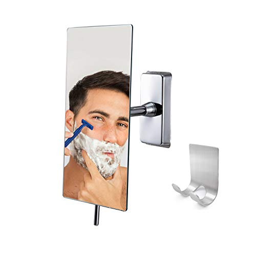 Canoz-FM-RM01 Fogless Shower Mirror with 360 Degree Rotating, Not Need Hot -