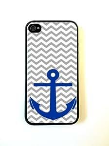 iPhone 6 plus 5.5 Case - Hard Capsule Case iPhone 6 plus 5.5 Case - Nautical Chevron Anchor