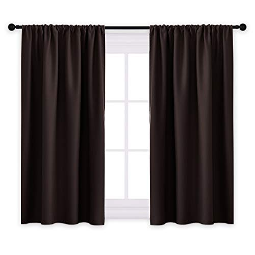 urtain Panels - Blackout Window Drapes Room Darkening Short Curtains Home Decoration Window Coverings with Rod Pocket, W 42