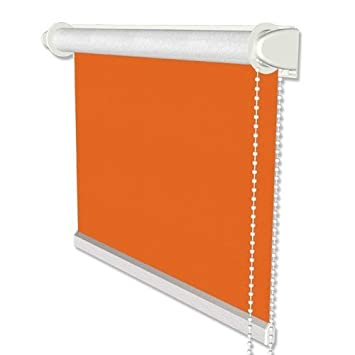 Verdunkelungsrollo ohne Bohren Rollo Klemmfix Thermorollo Klemmträger orange