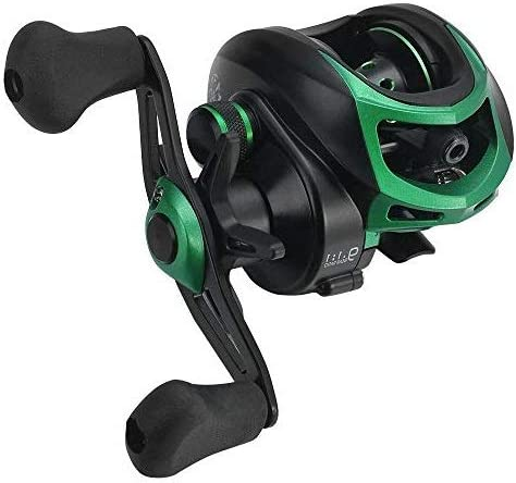Lixada Baitcasting Fishing Reels High Speed 7.1:1/8.1:1/9.1:1 Gear Ratio Baitcast Fishing Reel 17+1/18+1/19+1 Ball Bearings