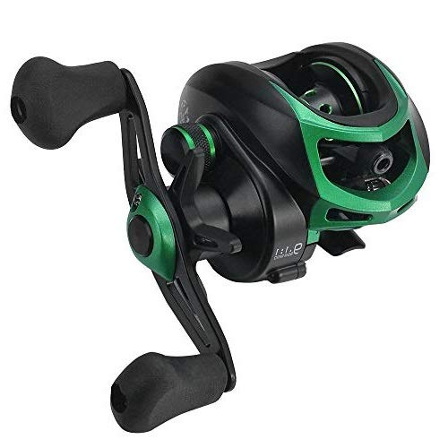 Lixada Baitcasting Fishing Reels High Speed 7.1 1 8.1 1 9.1 1 Gear Ratio Baitcast Fishing Reel 17 1 18 1 19 1 Ball Bearings,Detachable Side Cover for Easy Replacement and Maintenance