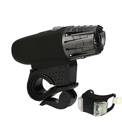 Buybuybuy USB Rechargeable Bike Light Set - 200 Lumens LED Lights - Easy to Mount Headlight and Taillight with Quick Release System - Best Front and Rear Cycle Lighting - - Emergency Kids Grape