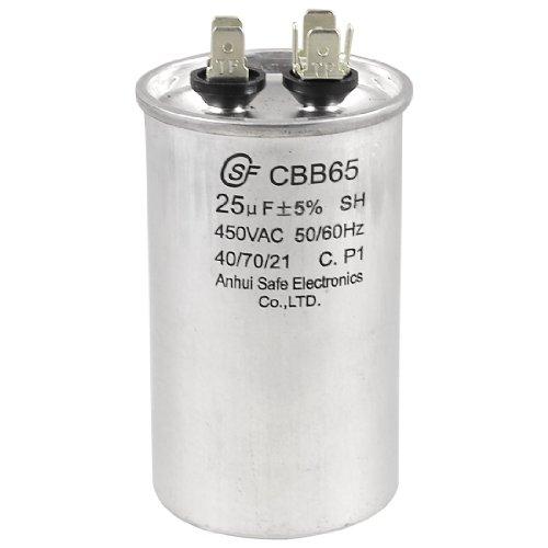 Aexit CBB65 450V Passive Components AC 50/60Hz 25uF 5% Round Electric Motor Capacitors Run Capacitor
