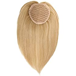 Uniwigs Remy Human Hair Mono Hair Topper, Closure, Hair Topper, Straight for Hair Loss (Y-22)
