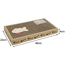 D-World4Pet Cat Scratching - Funny Sisal Cat Scratch Board Kitten Scratch Board Pad Soft Bed Mat Claws Care Toys Corrugated Scratcher Cat Training Toy