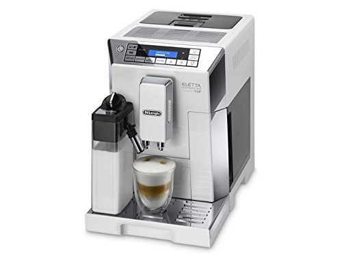 DeLonghi Eletta Milk Frother Super Automatic Espresso Machine with My Milk Menu and Lattecrema System, White, ECAM45760W