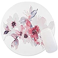 Flowers watercolor illustration Round mosue pad Non-slip mouse pad Gaming mouse pad