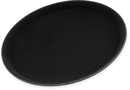 Carlisle 1100GL004 GripLite Rubber Lined Non-Slip Round Serving Tray, 11