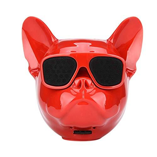 WAOBE Bull Dog Bluetooth Altavoces, Altavoz inalámbrico portátil Altavoz de Bajos de Alta fidelidad al Aire Libre, Control...