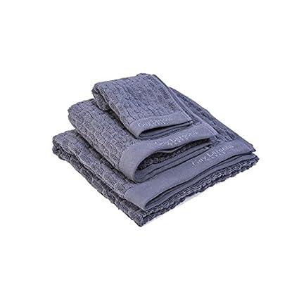 Guy Laroche – Juego de 1 toalla de baño + 1 toalla de baño + 1