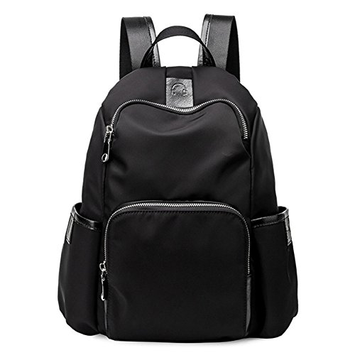 Women Antitheft Oxford Backpack Purse Fashion Small Daypack for Girls (Black)