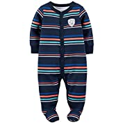 Carter's Baby Boys' Cotton Zip-Up Sleep & Play (3 Months, Wild One)