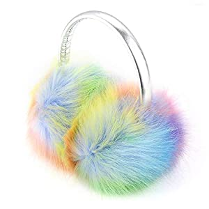 NWK Ear Muff Earmuff Ear Warmer for Women Girls 2019 Winter Faux Fur Christmas GIfts for Mom Daughter