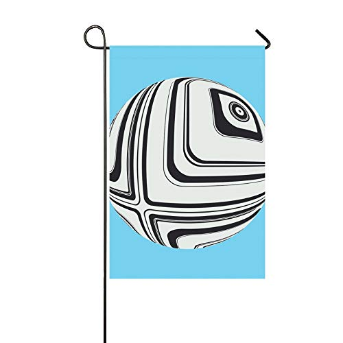 (Jnseff Home Decorative Outdoor Garden Flag Signs Double Sided Print Psychedelic Eye Sphere White Black On Garden Flag Markers Nordic Garden Flag 12x18 Inch Spring Summer Gift)