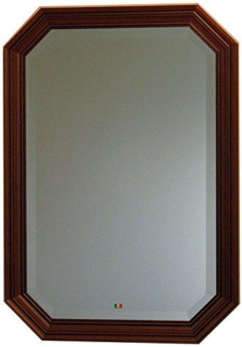 イタリア製 JHAアンティーク風水ミラー シンプル (ブラウン) 八角形W473×H673(M) IE-55 (デラックス:面取り加工)八角ミラー 八角鏡 壁掛け鏡 ウォールミラー B01K8ZJCMI ブラウン ブラウン