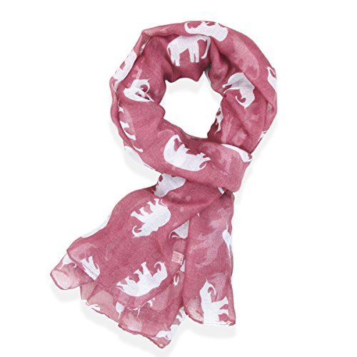 Gorgeous Elephant Print Long Scarf Shawl Sarong (Print Long Scarf)