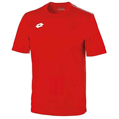 Lotto Junior Unisex Delta Jersey Short Sleeve Shirt (LB) (Flame/White)