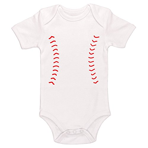 Starlight Baby Baseball Bodysuit (White, 3-6 -