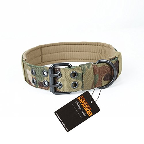 Excellent Elite Spanker Tactical Nylon Dog Collar with Control Handle(Camouflage-M)
