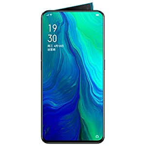 Original Oppo Reno 6GB+128GB Mobile Phone Snapdragon 710 Octa Core 48MP Camera Phone VOOC 3.0 Screen Fingerprint Cellphone Support Google by-(Real Star Technology)(Green)