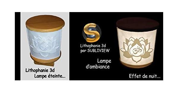 Lithophanie - Lámpara de ambiente en 3D: Amazon.es: Iluminación