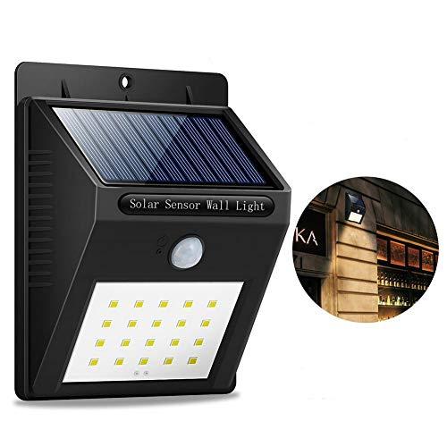 Solar Lights, 8 LED Solar Motion Sensor Lights,IP64 Waterproof Motion Sensor Security Lights for Garden,Yard,Porch,Landscape,Garage,Driveway Black