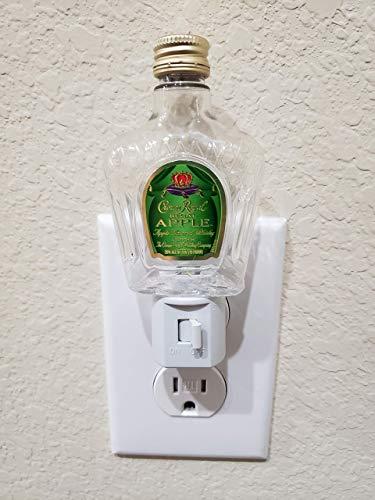 Crown Royal Apple Night Light - LED, Wall Light, Plug-In Light, Gift, Home Decor, Liquor Craft, Bottle Craft, Crown Royal