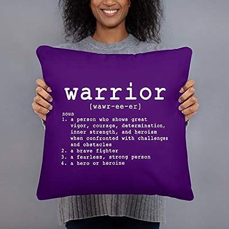 unknow - Funda de almohada de guerrero morada con citas de supervivencia y guerrero, funda de almohada Get Well Soon Care Pack Thinking of You Get Well Soon Inspirational