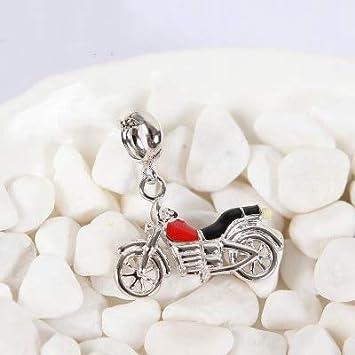 Color: 14 Calvas Original 100/% 925 Sterling Silver Bead Charm Fit DKG Bracelets Love Travel Motorcycle Baby Car Charms Women DIY Jewelry
