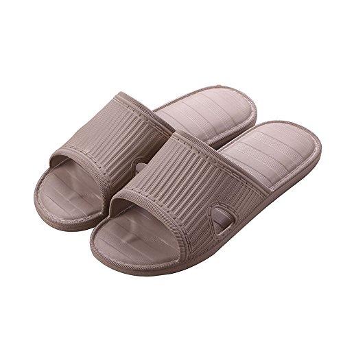 Flat Unisex fereshte Slippers Adults Travel Men House Hotel Khaki Indoor Non Slip PVC Open Women's Toe Men's w1xSXxU