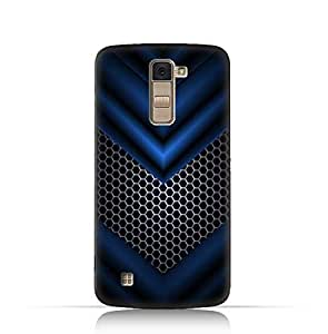 LG K10 TPU Silicone Case With Abstract Blue Mesh Pattern Design