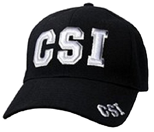 csi-law-enforcement-baseball-cap-hat-adjustable-black-with-3d-embroidery