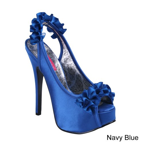eu Uk Blue 7 Satin 40 Teeze 56 Navy Bordello Xwqfx0C