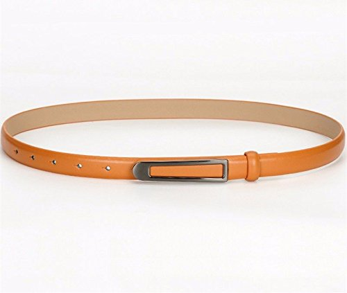 Orange1 Belt Dress All Leather Waist Belt Youth Chain Seasons Ms Fashion Brief Formal Women 8cm Lady's Decoration Business 8wwq4Ya