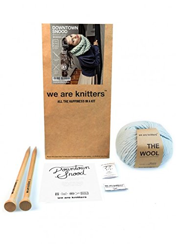 We Are Knitters – First Timers Knitting Kit – Downtown Snood Scarf by We Are Knitters