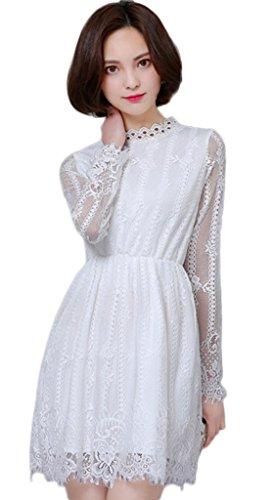 afad5efb7e Ärmel Ykk Sommer Lange Party Cocktailkleid Minikleid Damen Weiß Smile  Freizeit Kleid ...