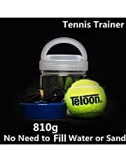 Portable Tennis Trainer 2.05LB Weight Heavy Iron Base Tennis Training Tool Exercise Tenis Ball Sports Self-Study Rebound Ball Baseboard Sparring Device